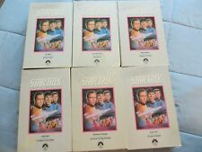 LOT OF 6 VINTAGE STAR TREK THE COLLECTOR'S EDITION VHS TAPES 1967