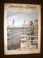 La Domenica del Corriere 2 ottobre 1938 Duce Trieste - Finlandia - Setta Sikh