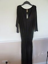 TwentyTen long black stretchy jersey maxi dress BNWT size 18