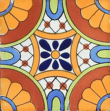 "40 Mexican Talavera TILES Ceramic Mix Patterns 6x6"" Stairs Backsplash C181"