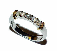 Fully Hallmarked Platinum & 0.30ct Diamond 5 Stone Eternity Ring: UK Size K