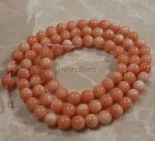 "Natural Sea Coral Round  Bead Strand  Angelskin Light Peach 3 MM 16"" (1)"