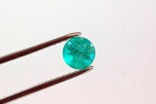7mm 1.35 TCW Round Cut Natural Colombian Emerald Loose Gemstone