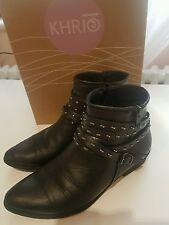 """""""khrio"""" marque noir cheville bottes taille 4/eu37"""