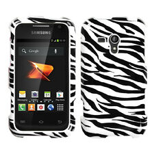 For Samsung Galaxy Rush M830 HARD Snap On Protector Case Phone Cover Zebra