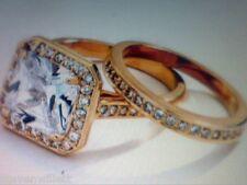 5 CTW HALO PRINCESS WEDDING ENGAGAMENT BAND RING SET SZ 5 SZ 6 SZ 7 SZ 8 SZ 9