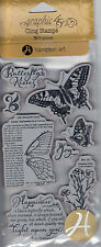 Graphic45 NATURE SKETCHBOOK #1 Cling Stamps Set of (8) scrapbooking BOTANICALS