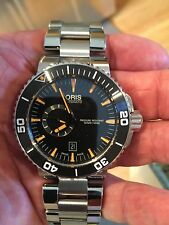 ORIS DIVE WATCH--AQUIS. TT1,  SMALL SECOND HAND. 743-7673-4159M  NEW