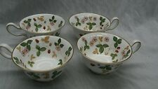 Very nice 4 vintage Wedgwood bone china wild straberry cups