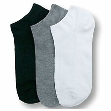 Mens Womens 9-11 10-13 Crew Ankle Cut Sports Socks Lot White Grey Black Unisex