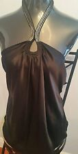 ELIE TAHARI MSRP$198 100% SILK BLACK TOP/TANK/BLOUSE NWT LARGE
