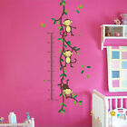 Cheeky Monkey Height Chart  Removable Wall Sticker Decal Vinyl Kid Baby Decor