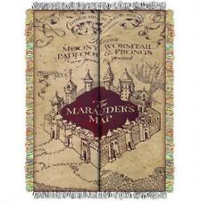 Harry Potter MARAUDERS MAP TAPESTRY THROW - Blanket Wall Hanging Gift Collectors
