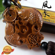 HQ Amass Fortunes Natural Rosewood Carp (Koi) FengShui Collection