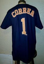 NEW Majestic MLB Houston Astros #1 Carlos Correa Alternate Jersey T-Shirt Men XL