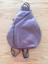 BORELLA BROWN LEATHER SHOULDER BAG LEATHER BACKPACK SLING LIKE NEW EUROPEAN