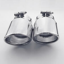 "2PCS Bolt On 4"" Outlet 304 Stainless Steel Sports Style Exhaust Tips AUDI Q7"