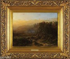 FISHING AT SUNRISE BY WILLIAM LOUIS SONNTAG & ANOTHER PAINT A LANDSCAPE ON VERSO