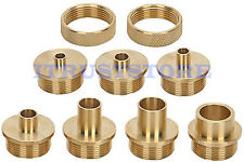 BRASS ROUTER TEMPLATE BUSHING GUIDE KIT SET FOR WOOD ROUTER HINGES DOVETAIL BIT