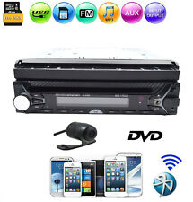 "7"" Single 1Din Car GPS Navigation DVD Player Bluetooth Radio Touch Screen+CAMERA"