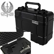 Opus Tactical Double Handgun / Pistol Hard Gun Case / Crush-Resistant Air Tight