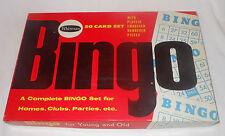 Vintage 1959 Whitman Bingo Family Game 50 Cards Black Plastic Pieces & Dispenser