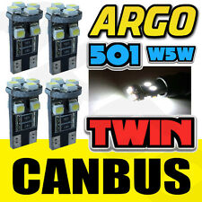 4 X T10 501 W5W CAN-BUS 5000K INTERIOR WHITE LED 8-SMD BULBS TWIN