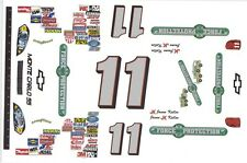 #11 Jason Keller Force Protection Chevy 1/64th HO Scale Slot Car Decals