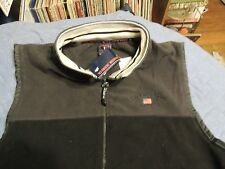U.S. Polo Assn. Men's Fleece Dark Gray Vest Adult 2XL New With Tags Sewn Logo