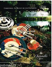Publicité Advertising 1992 Service de table assiette orfèvre Christofle