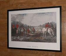 The Meet - J F Herring print - 1991 vintage hunting print - framed 70x56cm