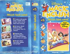MAGIC ENGLISH N° 1 HELLO: Tanti Saluti (1996) VHS WALT DISNEY 1ª EDIZIONE