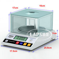 1000g x 0.01g Digital Electronic Jewelry Balance Scale LB Gold Lab Weigh 457B US