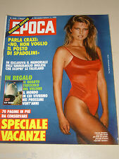 EPOCA=1982/1648=CHRISTIE BRINKLEY=ENNIO MORLOTTI=MARTA MARZOTTO=COVER MAGAZINE=