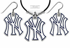 NEW YORK YANKEES NECKLACE & EARRINGS SET - MLB LICENSED JEWELRY FREE SHIP #LTHB*