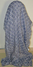 NWT VERSACE LARGE BLUE CRINKLED SCARF MADE IN ITALY