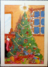 "card ""CHRISTMAS AT HOME"" by Yves D. Roux, publ. in France for UNISEF"