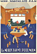 L'ARTE Annuncio Nord Ferrovia Vagoni LITS PLM viaggio Deco Poster stampati