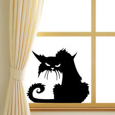 3D nero Cat Wall Stickers Halloween decalcomania del v ile Home Auto