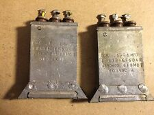 2 Vintage Aerovox .5 + .5 uf 600v Bathtub Oil Capacitors tube amp TESTED GOOD