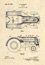 Official 1939 John Deere Tractor US Patent Art Print- Antique Vintage Farm - 484
