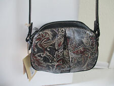 "Patricia Nash-"" Feather Paisley""   Italian Leather Cross-Body Bag -NWT"