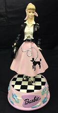 Barbie 50's Poodle Skirt San Francisco Music Box Co. Plays Rockin Robin Damage