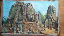 peinture bouddha pierre temple Cambodge Angkor signé proche André Maire