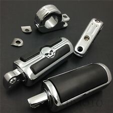 """For Harley Sportster 883 1340 XL1200 1 1/4"""" Highway Skull Foot Pegs P-Clamps"""