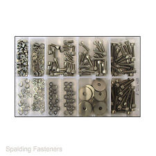 Assorted M5 Metric A2 Stainless Steel Socket Cap Head Bolts, Nuts & Washers