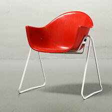 Walter pape, coques fauteuil wilkhahn rouge enfants chaise child chair Mid Century 50er