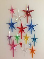 LOT of STAR TOPPERS SMALL MEDIUM LARGE Vintage Ceramic Christmas Tree Lights NEW