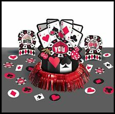 Place Your Bets Card Vegas Casino Birthday Party Table Centerpiece Decoration