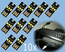 10pcs Mini USB LED Card Lamp mobile power For Computer Netbook Keyboard